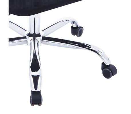 vidaXL Chaise de bureau avec dossier en maille Noir Tissu[6/7]