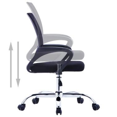 vidaXL Chaise de bureau avec dossier en maille Noir Tissu[4/7]
