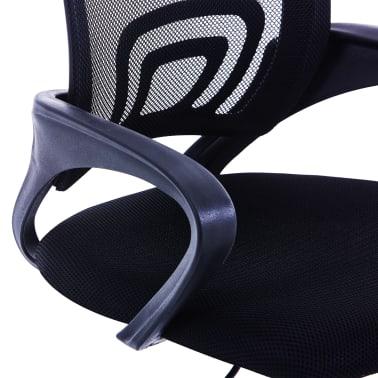 vidaXL Chaise de bureau avec dossier en maille Noir Tissu[5/7]