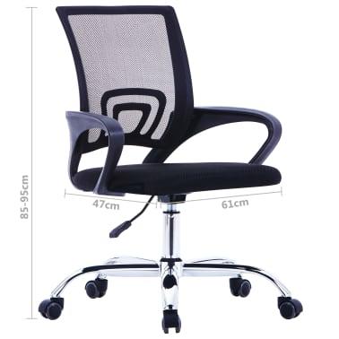 vidaXL Chaise de bureau avec dossier en maille Noir Tissu[7/7]