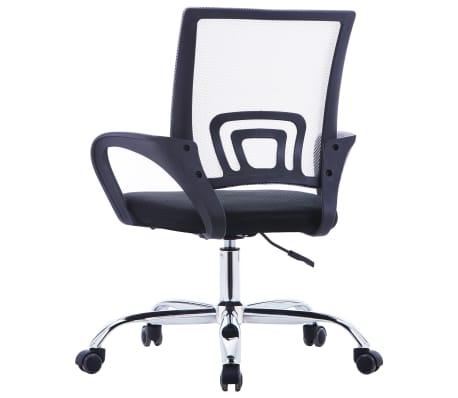 vidaXL Chaise de bureau avec dossier en maille Gris Tissu[3/7]