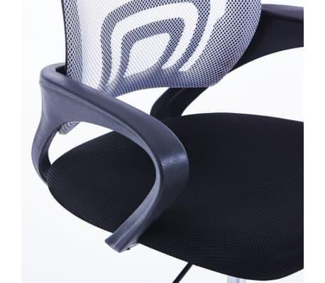 vidaXL Chaise de bureau avec dossier en maille Gris Tissu[5/7]