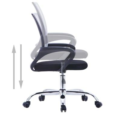 vidaXL Chaise de bureau avec dossier en maille Gris Tissu[4/7]