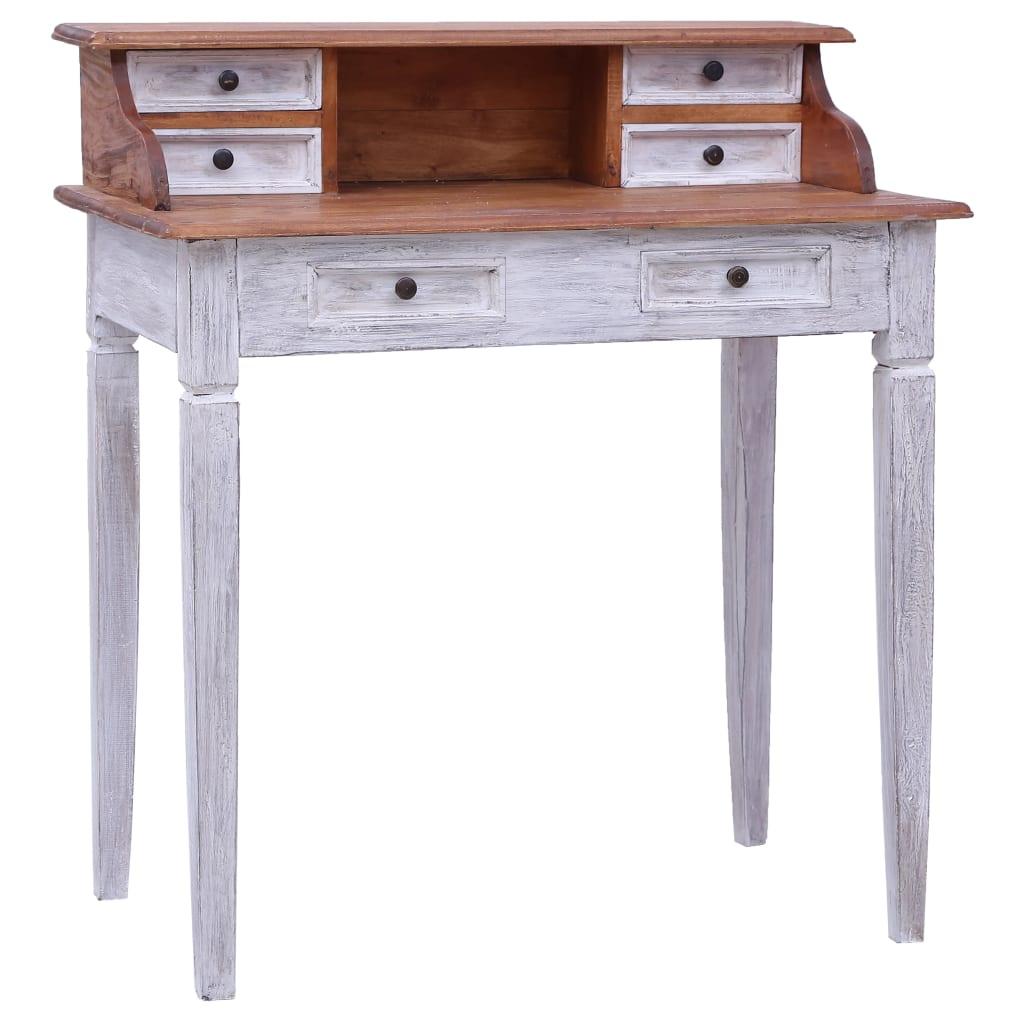vidaXL Birou de scris cu sertare, 90x50x101 cm, lemn masiv reciclat vidaxl.ro