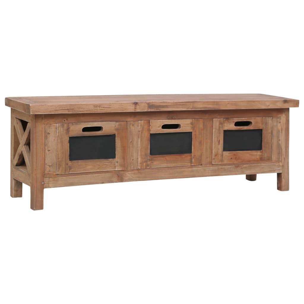 vidaXL Tv-meubel met 3 lades 120x30x40 cm massief mahoniehout