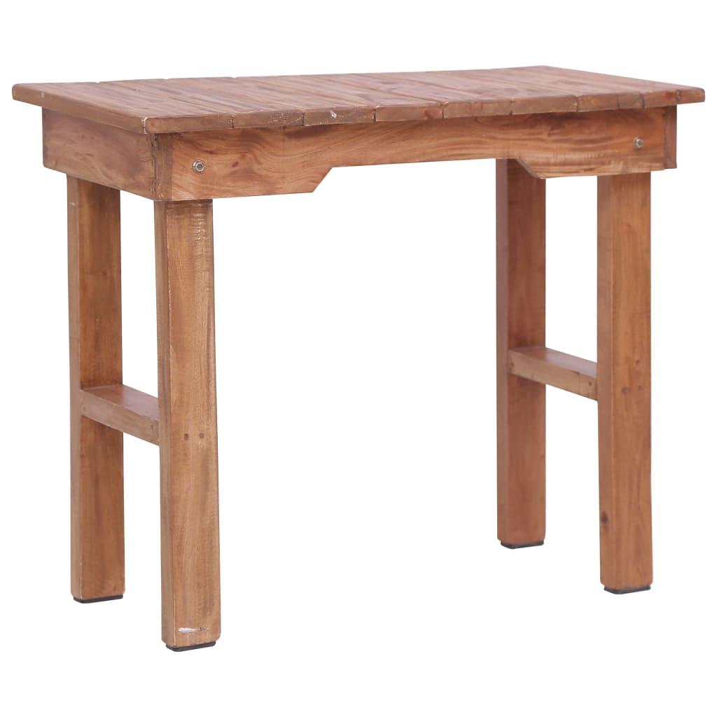 vidaXL Přístavný stolek 70 x 35 x 60 cm masivní mahagonové dřevo