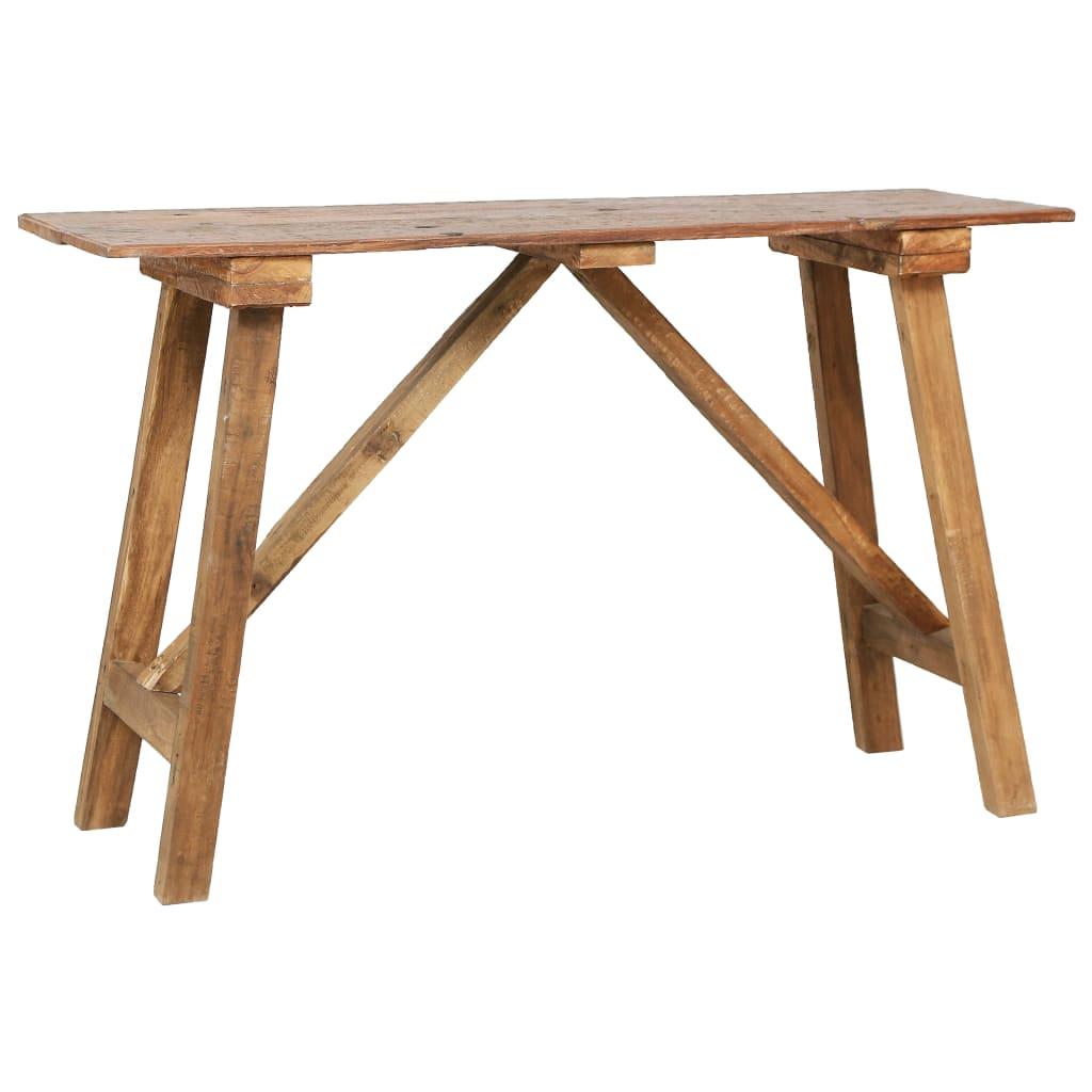 vidaXL Masă consolă, 130 x 40 x 80 cm, lemn masiv reciclat imagine vidaxl.ro