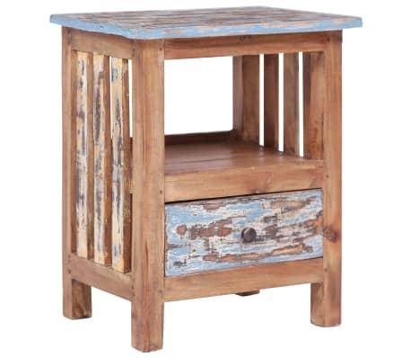 vidaXL Noptieră, 41 x 30 x 50 cm, lemn masiv reciclat