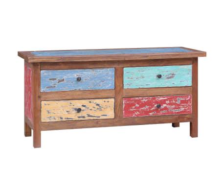 vidaXL Tv-meubel 102x35x50 cm massief gerecycled hout