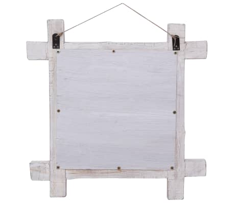 vidaXL Spiegel houtblokken 70x70 cm massief gerecycled hout[4/6]
