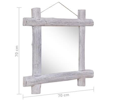 vidaXL Spiegel houtblokken 70x70 cm massief gerecycled hout[6/6]