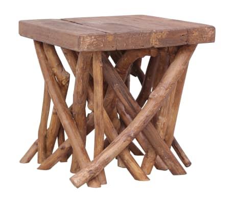 vidaXL Konferenční stolek z větví 40 x 40 x 40 cm masivní dřevo