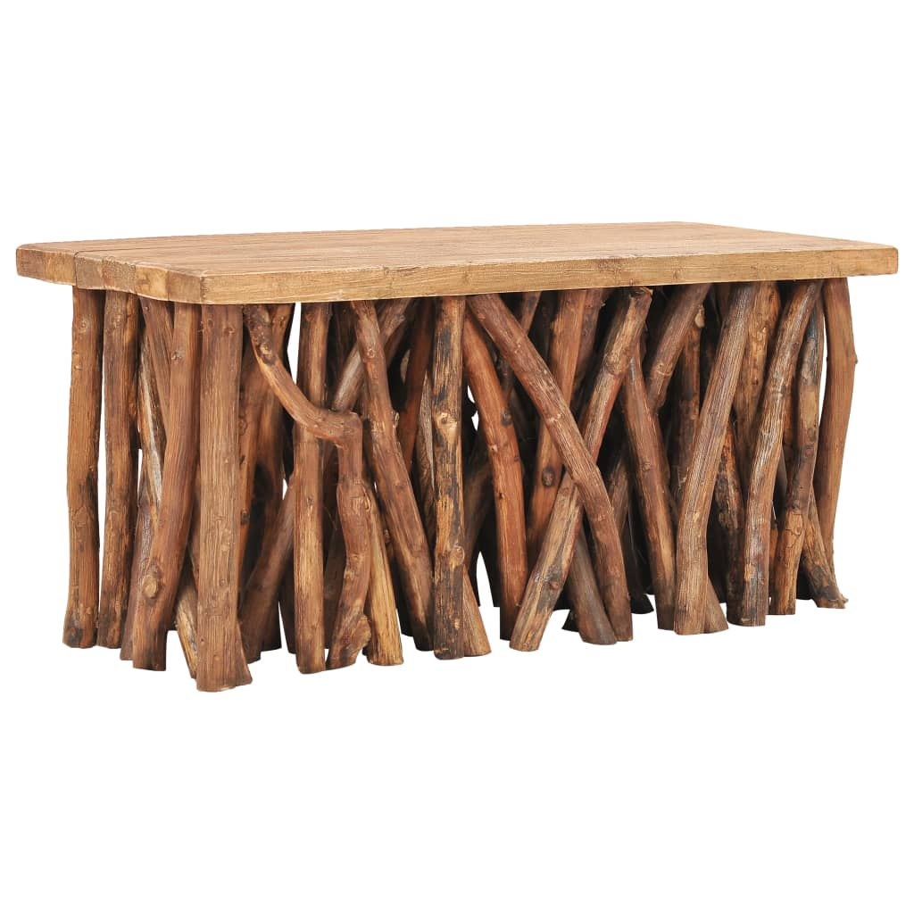 Salontafel 100x40x47,5 cm massief gerecycled hout en teakhout