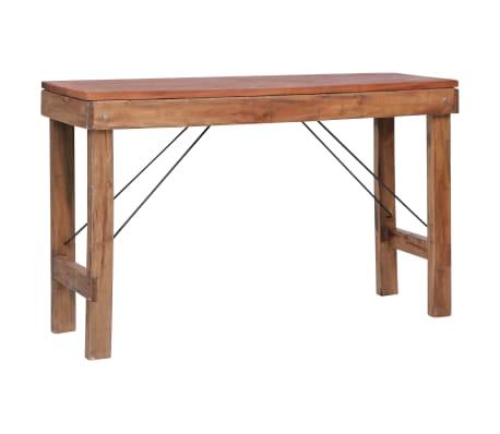 vidaXL Table console pliable 130x40x80 cm Bois solide de récupération
