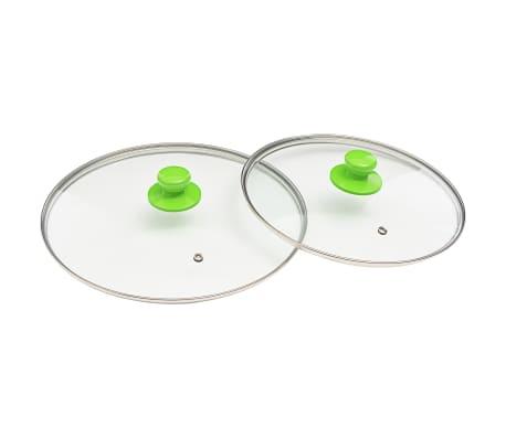 vidaXL 5-częściowy zestaw patelni, zielony, aluminium[6/8]