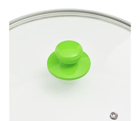 vidaXL 5-częściowy zestaw patelni, zielony, aluminium[7/8]