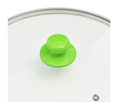 vidaXL Set tigaie, 5 piese, verde, aluminiu[7/8]