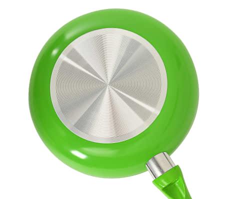 vidaXL 5-częściowy zestaw patelni, zielony, aluminium[8/8]