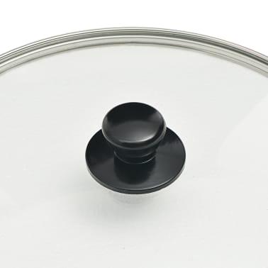 vidaXL Juego de sartenes 5 piezas aluminio negro[7/8]