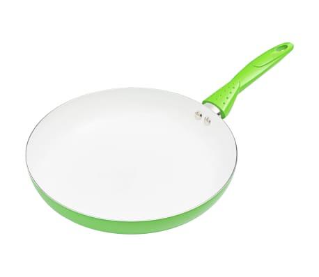 vidaXL 8-delige Kookgereiset aluminium groen[4/10]