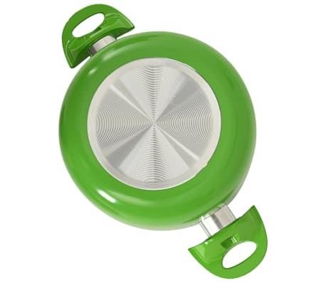 vidaXL Set de vase, 8 buc., verde, aluminiu[10/10]