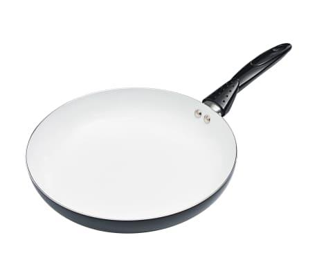 vidaXL Maisto ruošimo indų rinkinys, 8 d., juodos spalvos, aliuminis[4/10]