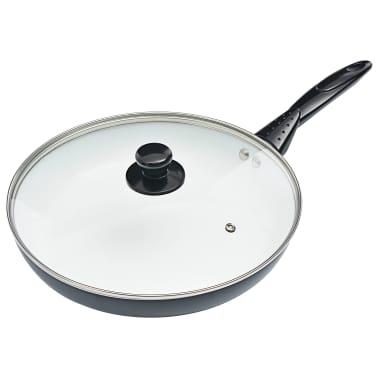 vidaXL 8-delige Kookgereiset aluminium zwart[5/10]