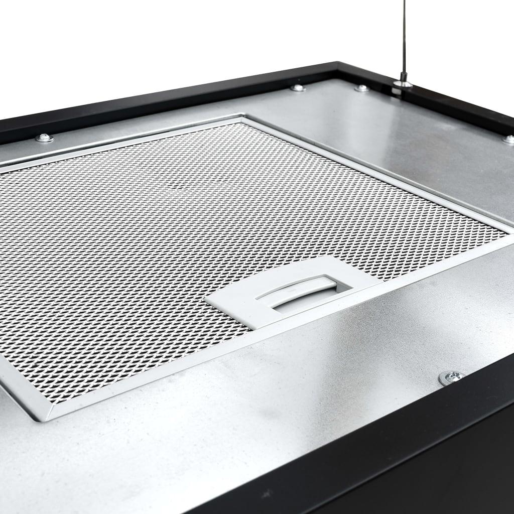 Afzuigkap hangend met aanraaksensor LCD 55 cm staal