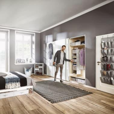 Leifheit Caja de almacenaje bajo la cama pequeña gris 64x45x15cm 2 uds[3/6]