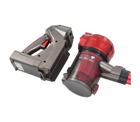 vidaXL Aspiradora de mano sin cable multiciclónica 2 en 1 rojo 120 W[4/10]