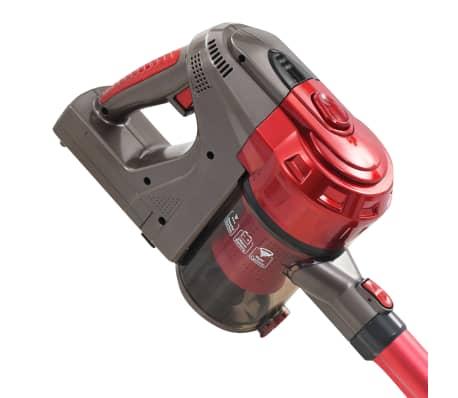 vidaXL Aspiradora de mano sin cable multiciclónica 2 en 1 rojo 120 W[5/10]