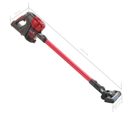 vidaXL Aspiradora de mano sin cable multiciclónica 2 en 1 rojo 120 W[10/10]