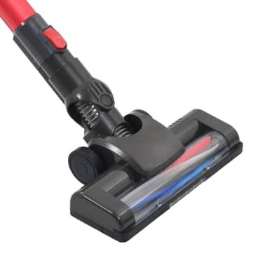 vidaXL Aspiradora de mano sin cable multiciclónica 2 en 1 rojo 120 W[7/10]