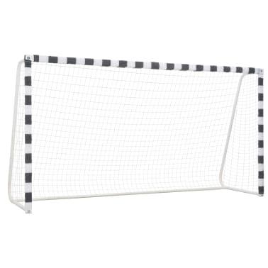 vidaXL Futbolo vartai, juodos ir baltos sp., 300x160x90 cm, metalas[1/5]