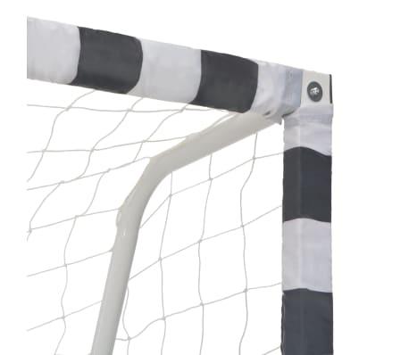 vidaXL Futbolo vartai, juodos ir baltos sp., 300x160x90 cm, metalas[4/5]