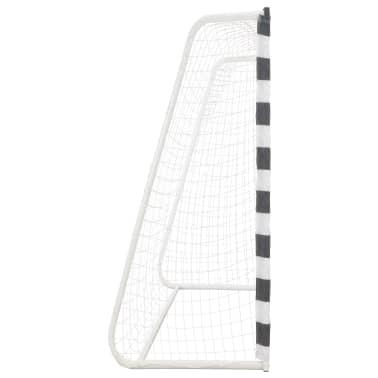 vidaXL Bramka do piłki nożnej, 300x200x90 cm, metalowa, czarno-biała[3/5]