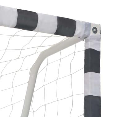 vidaXL Bramka do piłki nożnej, 300x200x90 cm, metalowa, czarno-biała[4/5]