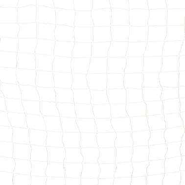 vidaXL Bramka do piłki nożnej, 300x200x90 cm, metalowa, czarno-biała[5/5]