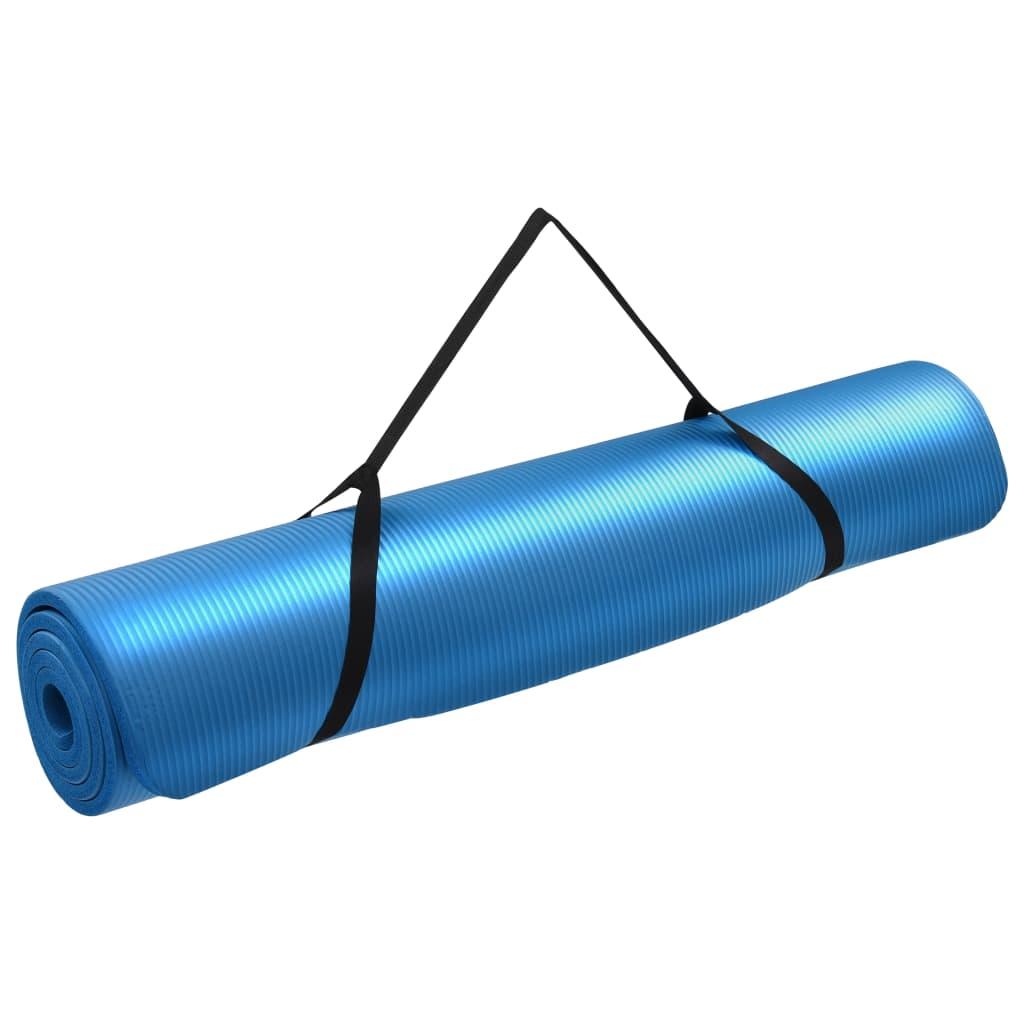 vidaXL Saltea de yoga, albastru, 100 x 190 cm, EVA poza 2021 vidaXL