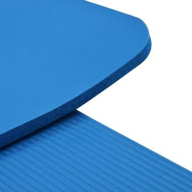 vidaXL Mata do jogi, 100 x 190 cm, EVA, niebieska[5/5]