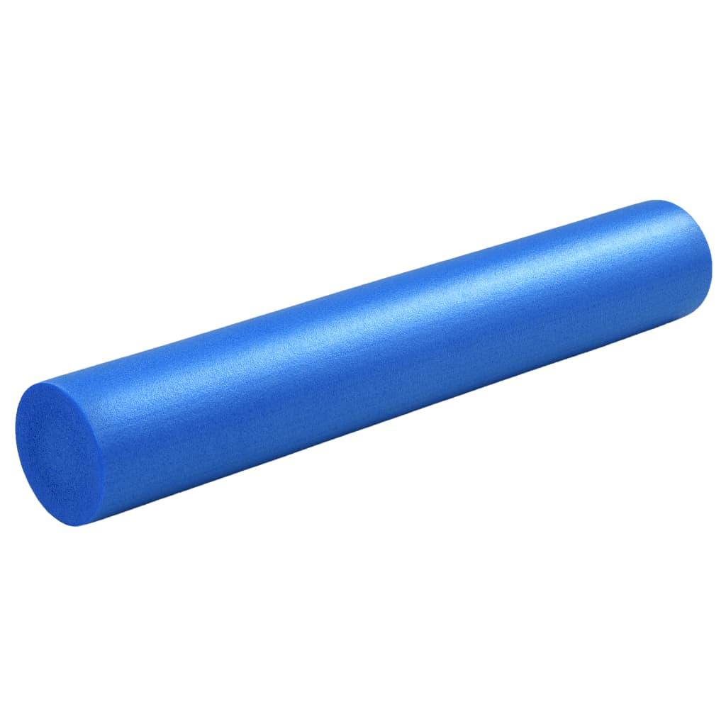 Jóga válec pěnový 15 x 90 cm EPE modrý