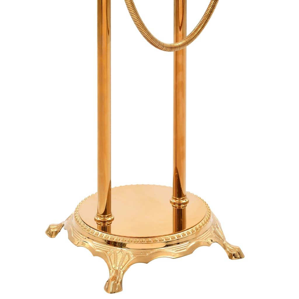 vidaXL Badkuipkraan vrijstaand 99,5 cm roestvrij staal goudkleurig
