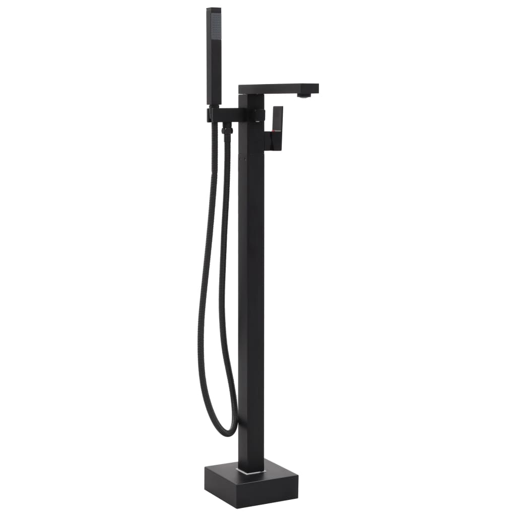 vidaXL Robinet de cadă independent, negru, 90 cm, oțel inoxidabil poza 2021 vidaXL