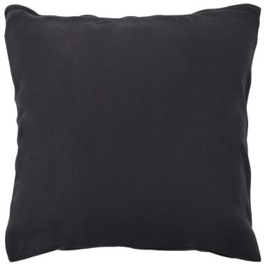 vidaXL Set husă pilotă, 2 piese, antracit, 135x200/80x80 cm, fleece[3/4]