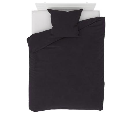 vidaXL Bäddset fleece antracit 155x200/80x80 cm