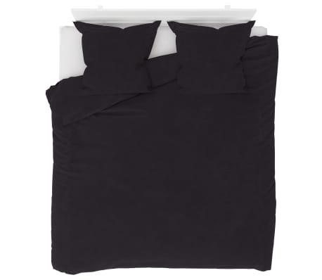 vidaXL Bäddset fleece antracit 200x200/80x80 cm