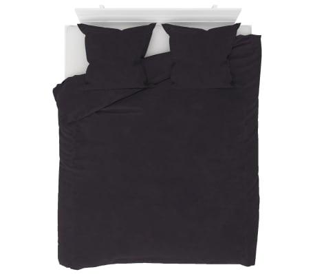vidaXL Bäddset 3 delar fleece antracit 200x220/80x80 cm[1/4]