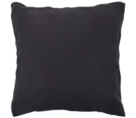 vidaXL Bäddset 3 delar fleece antracit 200x220/80x80 cm[3/4]