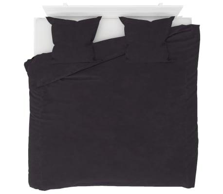 vidaXL Bäddset fleece antracit 240x220/80x80 cm