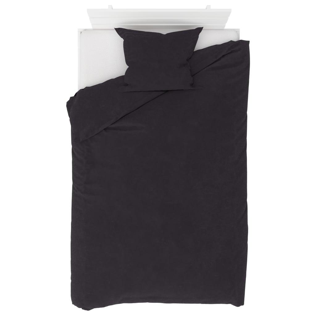 vidaXL 2dílná sada povlečení fleece antracitová 140 x 200 / 60 x 70 cm